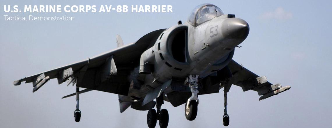 U.S. Marine Corps AV-8B Harrier Tactical Demonstration