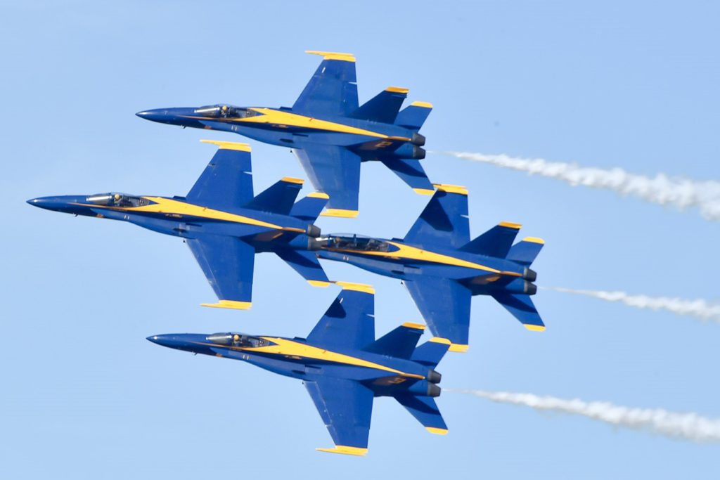 U.S. Navy Blue Angels Jet Demonstration Team
